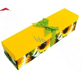 Anjel Darčeková krabička skladacia s mašľou na fľašu slnečnice 34 x 9,5 x 9,5 cm 1 kus