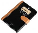 Nekupto Liga Pravých Gentlemanů Luxusní zápisník Pravý Gentleman - osobitý, inteligentní, silný a stylový 10,5 x 15 x 1,5 cm
