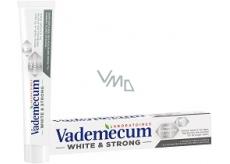 Vademecum White & Strong zubná pasta odstraňuje škvrny, bieli zuby a posilňuje zubnú sklovinu 75 ml