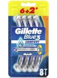 Gillette Blue3 Comfort 3 brity holiaci strojček pre mužov 8 kusov