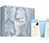 Dolce & Gabbana Light Blue toaletná voda pre ženy 50 ml + telový krém 50 ml + toaletná voda pre ženy 10 ml, darčeková sada