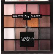 Gabriella salva Eyeshadow Palette paletka 16 očných tieňov 02 Pink 20,8 g