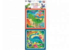 Puzzle Dinosaury 15 x 15 cm, 16 a 20 dielikov, 2 obrázky