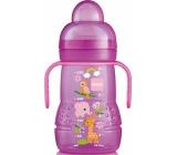 Mam Trainer fľaša na nácvik pitie s mäkkým náustkom a uškami rôzne motívy a farby 4 + mesiace 220 ml