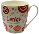 Nekupto Twister hrnek se jménem Lenka červený 0,4 litru 039 1 kus