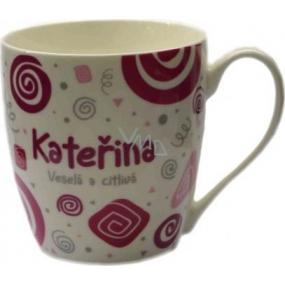 Nekupto Twister hrnek se jménem Kateřina růžový 0,4 litru