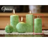 Lima Mramor Ópium vonná sviečka zelená valec 50 x 100 mm 1 kus
