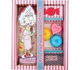 Bohemia Gifts Pre najlepšie babičku sprchový gél 300 ml + ručne vyrábané mydlo 3 kusy, kozmetická sada