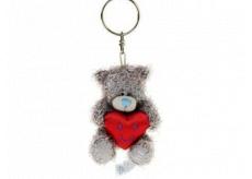 Me to You Medvedík s červeným srdcom plyšová kľúčenka 7 cm