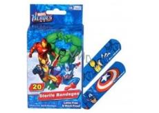 Marvel Heroes sterilné náplaste pre deti 20 kusov