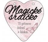 Albi Závesná plaketka srdce Magické srdiečko 9 cm × 10 cm