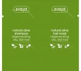 Ziaja Oliva vyživujúci šampón pre regeneráciu vlasov 7 ml + regeneračná maska na vlasy 7 ml, sachet
