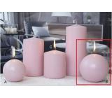 Lima Ice pastel sviečka ružová guľa 100 mm 1 kus