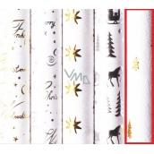 Zöllner Vianočný baliaci papier WHITE CHRIST- zlaté stromčeky