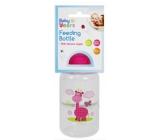 First Steps Safari dojčenská fľaša 0+ Žirafa ružová 150 ml
