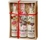 Kitl Syrob Bio Grapefruit s dužinou + Višňový s dužinou + Malinový s dužinou sirup pre domáce limonády 3 x 500 ml darčekové balenie