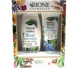 Bion Cosmetics Kozie srvátka telové mlieko pre citlivú pokožku 500 ml + balzam na ruky 205 ml, kozmetická sada