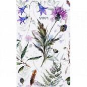 Albi Diár 2021 Vreckový týždenný Lúčne kvety 15,5 x 9,5 x 1,2 cm