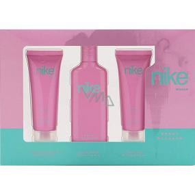 Nike Sweet Blossom Woman toaletná voda 75 ml + sprchový gel 75 ml + telové mlieko 75 ml, darčeková sada