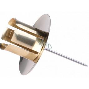 Svietnik Zlatý kovový zápich na kónickou sviečku 1 kus