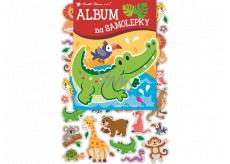 Album na samolepky hologram zvieratka 16 x 29 cm + 40 kusov samolepiek
