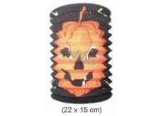 Lampion válec černý s dýní, 15cm 22 x 15 cm