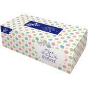 Linteo Satin papierové vreckovky dvojvrstvové krabička 200 kusov