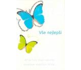 Nekupto Přání k narozeninám Vše nejlepší modrý a zelený motýl
