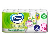 Zewa Deluxe Aqua Tube Camomile Comfort parfumovaný 3 vrstvový 150 útržkov 16 kusov, rolička, ktorú môžete spláchnuť