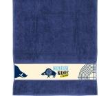 Albi Ručník Největší kanec modrý 90 x 50 cm