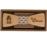 Bohemia Gifts & Cosmetics Drevený motýlik Gentleman 12,5 cm