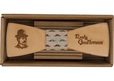 Bohemia Gifts & Cosmetics Dřevěný motýlek Gentleman 12,5 cm