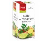 Apotheke Natur Maté so zázvorom a limetkou bylinný čaj napomáha k tráveniu, dýchanie a duševnej pohode 20 x 2 g