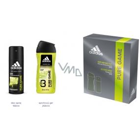 Adidas Pure Game dezodorant sprej pre mužov 150 ml + sprchový gél 250 ml, kozmetická sada