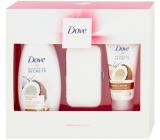 Dove Nourishing Secrets Restoring Ritual sprchový gel pro ženy 250 ml + Nourishing Restoring Ritual krém na ruce 75 ml + manikúra, kosmetická sada