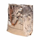 Albi Eko kabelka vyrobená z pratelného papiera laminácia - zlatá 30 cm x 38 cm x 10,5 cm