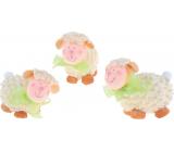 Ovečka kučeravá so zelenou mašľou na postavenie 7 cm 1 kus