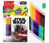 Colorino Pastelky trojhranné Star Wars obojstranné 24 farieb