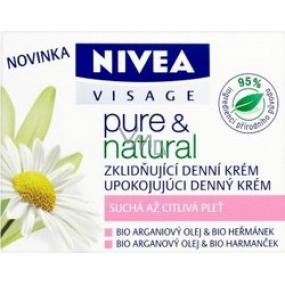 Nivea Visage Pure & Natural zklidňující denní krém 50 ml