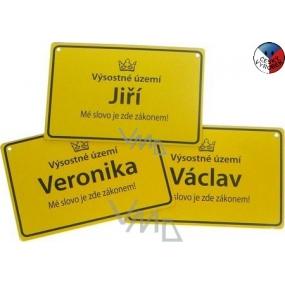 Nekupto Ceduľka s menom Václav 15x10 cm 1 kus