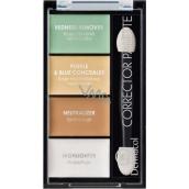 Dermacol Corrector Palette 4-barevná paleta korektorů a rozjasňovače 9 g
