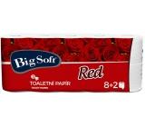 Big Soft Red toaletní papír bílý 3 vrstvý 8+2 role