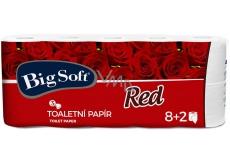 Big Soft Red toaletní papír bílý 3 vrstvý 10 kusů