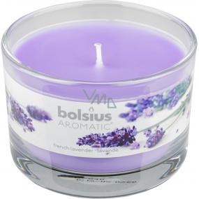 Bolsius Aromatic French Lavender - Francúzska Levanduľa vonná sviečka v skle 90 x 65 mm 247 g doba horenia cca 30 hodín