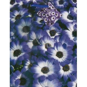 Nekupto Darčeková papierová taška 23 x 18 x 10 cm Fialové kvety 1107 40 ÚFM