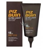 Piz Buin Ultra Light SPF15 ultra ľahký hydratačný fluid na opaľovanie 150 ml