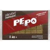 Pe-Po Podpaľovač drevené kocky aróma kakao 40 podpáli