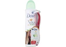 Dove Go Fresh Touch Okurka & zelený čaj antiperspirant deodorant sprej pro ženy 150 ml + holicí strojek se 3 břity, duopack
