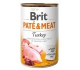 Brit Paté & Meat Krůta a kurča čisté masové paté kompletné krmivo pre psov 400 g