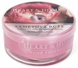 Heart & Home Zamatová ruža Sójová vonná sviečka v mištičke horí až 12 hodín 36 g